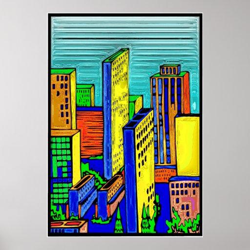 City Skyline 14 Poster