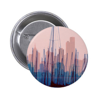 City Skyline 6 Cm Round Badge