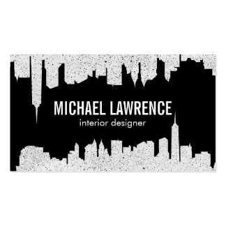 City Skyline | Abstract (speckled) Pack Of Standard Business Cards