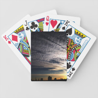 City Skyline Bicycle Playing Cards