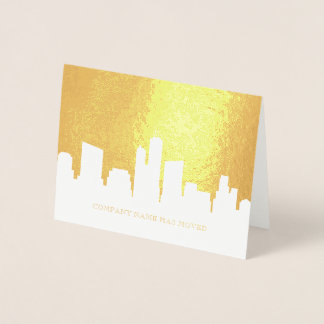 City Skyline | Business We Have Moved Foil Card