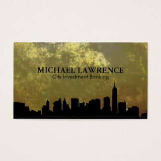 City Skyline (gold) Business Card