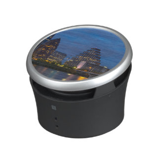 City Skyline Reflects Into Lady Bird Lake Speaker