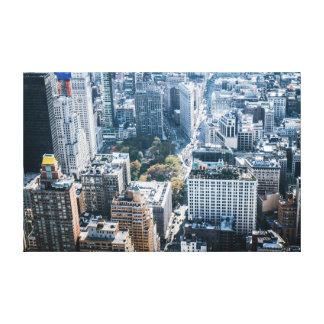 City skyscraper skyline canvas print bright photo
