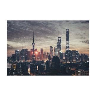 City Skyscrapers Canvas Print