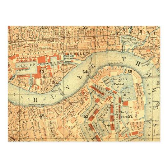 City Slickers - Vintage Map London River Thames