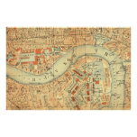 City Slickers - Vintage Map London River Thames Poster