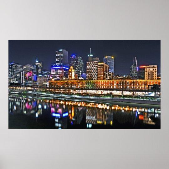 City So Bright Panoramic Poster