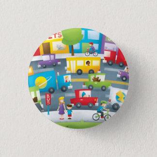 City Street 3 Cm Round Badge