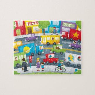 City Street Jigsaw Puzzle