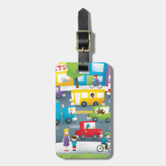 City Street Luggage Tag