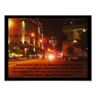City Street Poster