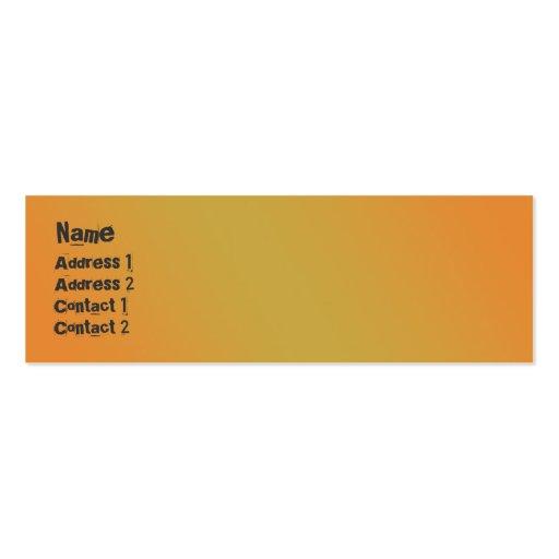 City Street - Skinny Business Card Templates