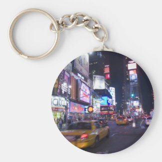 City Streets Basic Round Button Key Ring