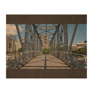 City Themed, A Sturdy, Steel Bridge In Urban Lands Queork Photo Print