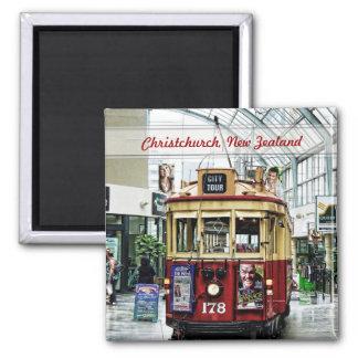 City Tour Tram Christchurch, New Zealand Magnet