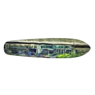City traffic skateboard deck