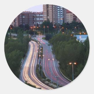 City Traffic Round Sticker