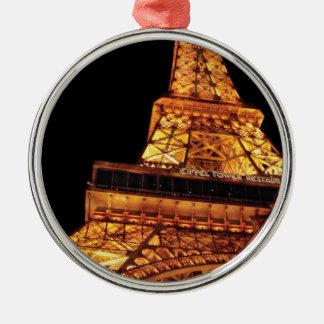 City - Vegas - Paris - Eiffel Tower Restaurant Christmas Ornament