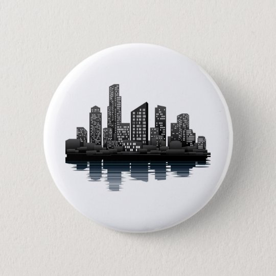 City view 6 cm round badge