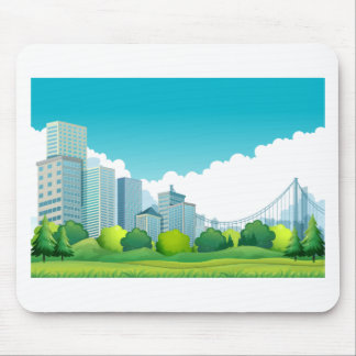 City view mouse pad