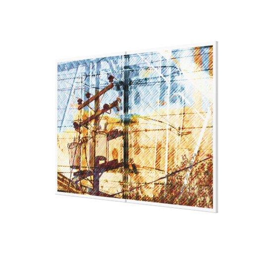 City Voltage Breaks Stretched Canvas Prints