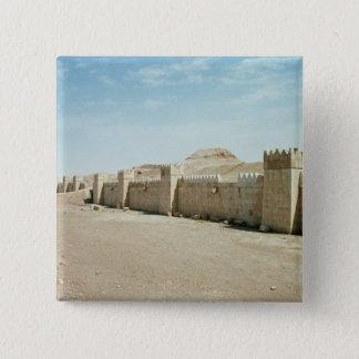 City walls 15 cm square badge