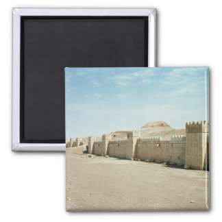 City walls square magnet