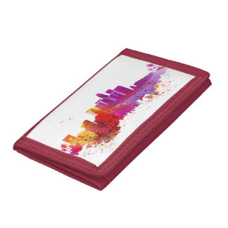 City watercolor  los angeles tri-fold wallet
