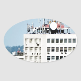 city windows oval sticker