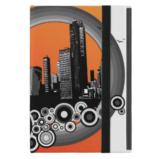 City with orange stripe iPad mini cover