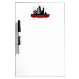 City with ribbon Dry-Erase whiteboards
