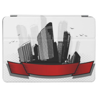 City with ribbon iPad air cover