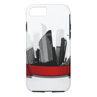 City with ribbon iPhone 8/7 case