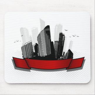 City with ribbon mouse mat