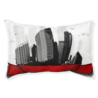 City with ribbon pet bed