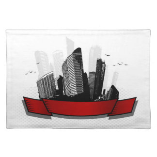 City with ribbon placemat