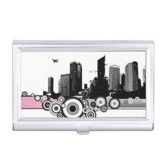 City with stripe business card holder