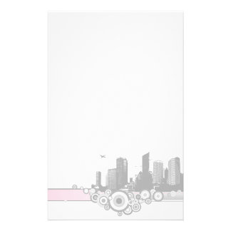 City with stripe custom stationery
