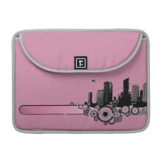 City with stripe sleeves for MacBook pro