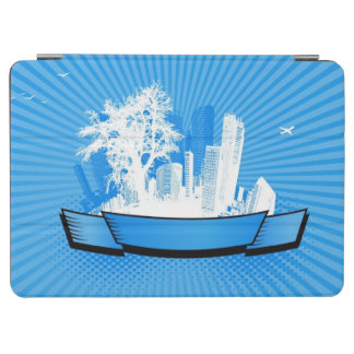 City with tree iPad air cover