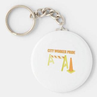 City Worker Key Chain