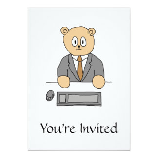City Worker Professional. 13 Cm X 18 Cm Invitation Card
