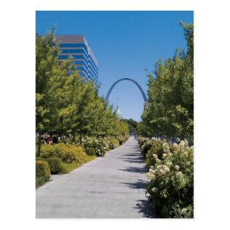 Citygarden Arch View Postcard