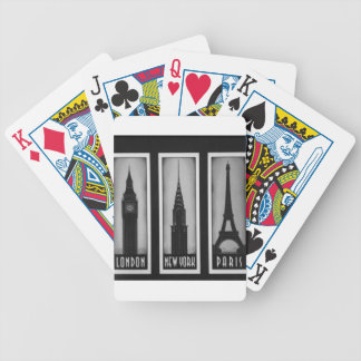 citys of dream: london, Paris and ny Bicycle Playing Cards
