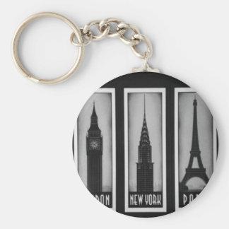 citys of dream: london, Paris and ny Keychain