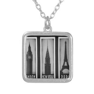 citys of dream: london, Paris and ny Pendants