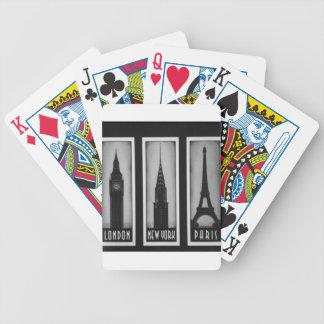 citys of dream: london, paris and ny poker deck