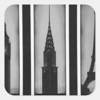 citys of dream: london, Paris and ny Square Sticker