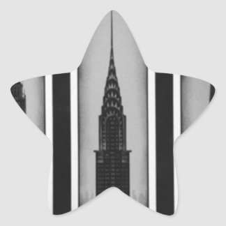 citys of dream: london, paris and ny star sticker